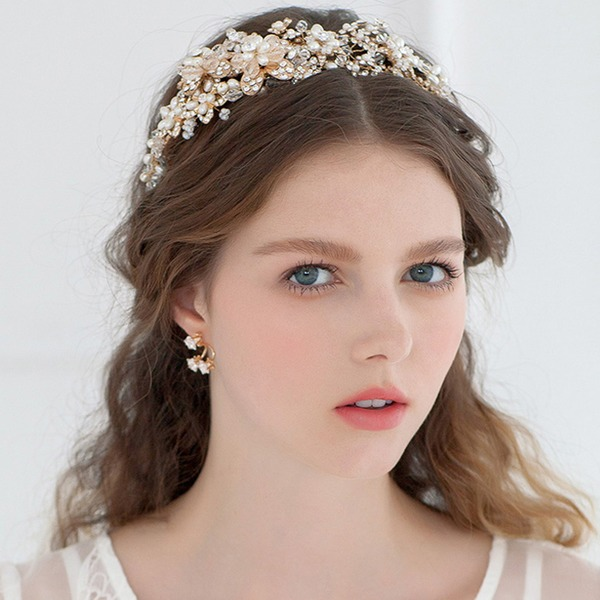 Gorgeous Rhinestone/Imitation Pearls Tiaras