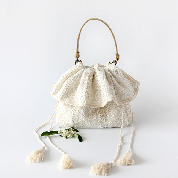 Elegant Cotton Clutches/Top Handle Bags/Bridal Purse