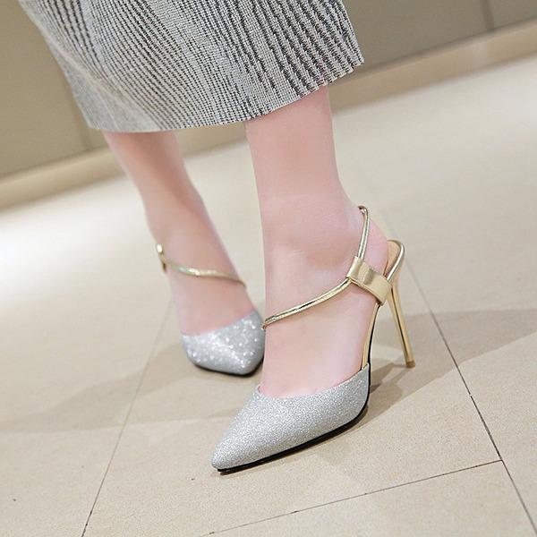 Femmes Similicuir Talon stiletto Escarpins Bout fermé Escarpins chaussures