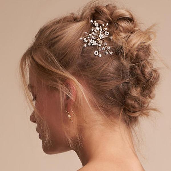 Damen Einzigartig Legierung Kämme und Haarspangen mit Venezianischen Perle (In Einem Stück Verkauft)