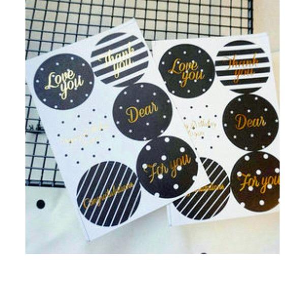Stile classico/Bella Rotondo Carta della carta (Set di 24 pezzi)