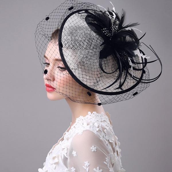 Dames Spécial/Glamour/Style Classique/Élégante/Unique/Exquis Batiste avec Feather Chapeaux de type fascinator