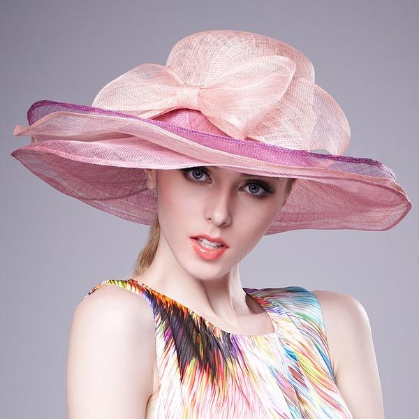 женские Шарм/Горячие батист с бантом флоппи-Шляпа/Кентукки дерби шляпы