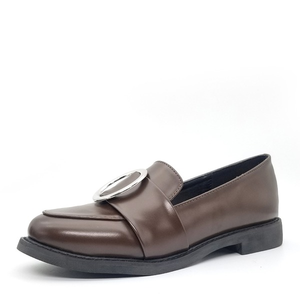 Vrouwen Kunstleer Flat Heel Flats Closed Toe schoenen