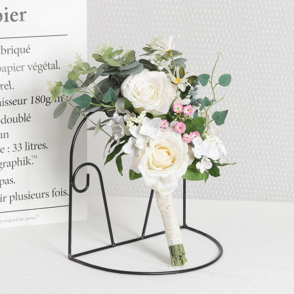 Élégante Satiné Bouquets de mariée/Bouquets de demoiselle d'honneur (vendu en une seule pièce) - Bouquets de mariée
