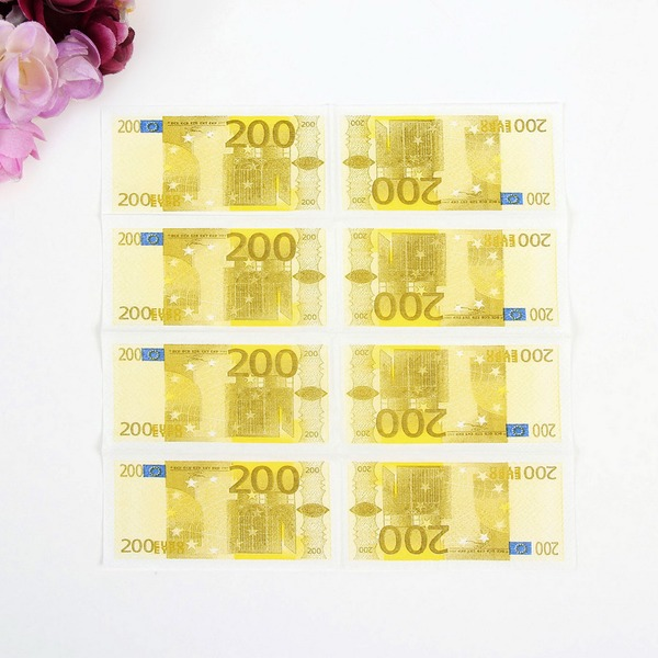 """ Bargeld-Rolle"" Dinner Servietten (Set aus 50)"