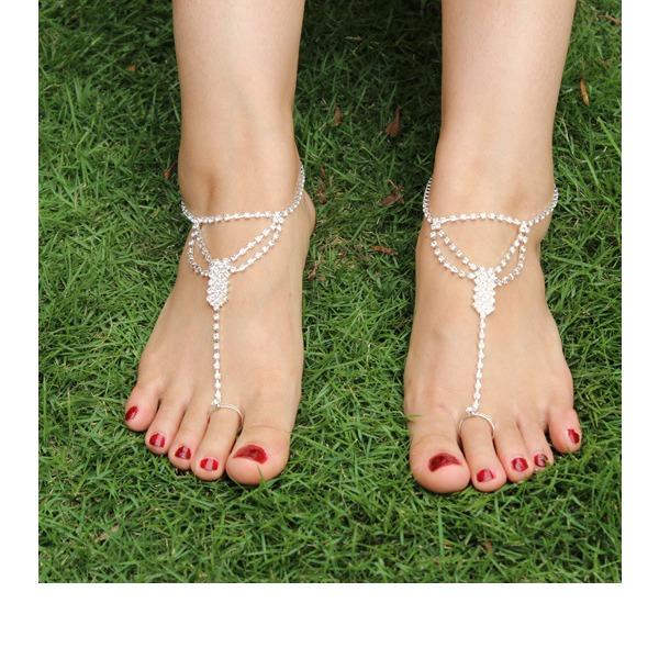 Rhinestone Alloy Foot Jewellery (Sold in a single piece)