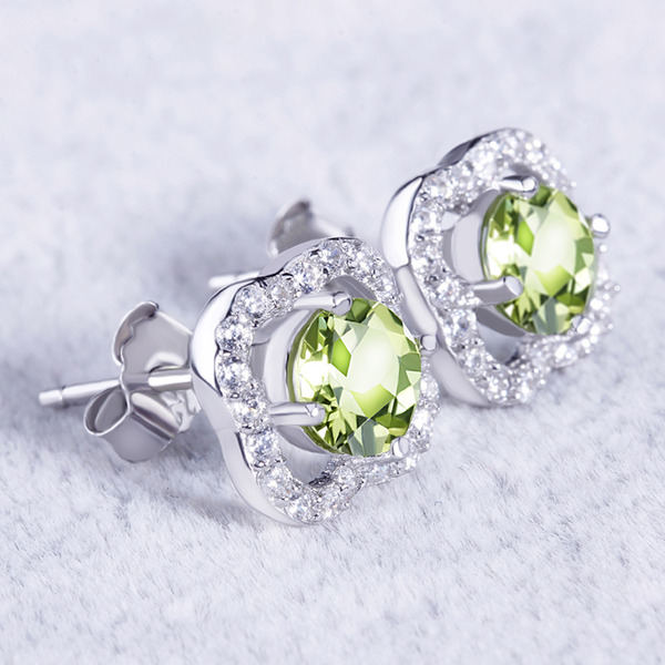 Ladies' Vintage 925 Sterling Silver Crystal/Cubic Zirconia Earrings For Mother/For Friends