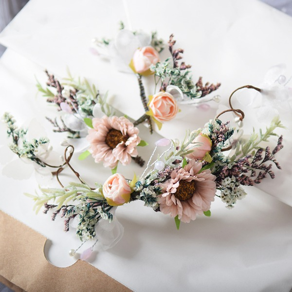 Dámy Speciální Silk Flower Spony do vlasů