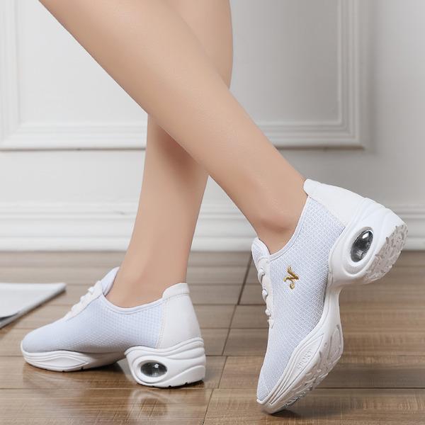 Donna Similpelle Panno Sneakers stile moderno Jazz Scarpe da Ginnastica Scarpe da ballo