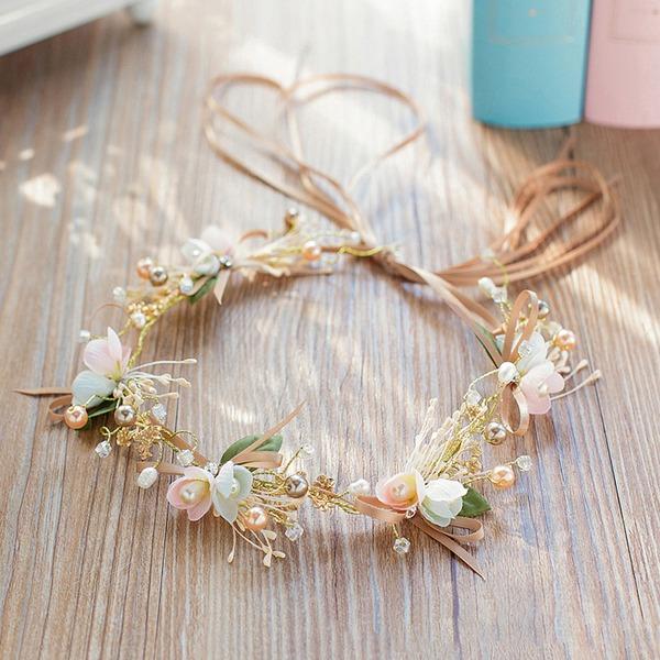 Damen Klassische Art Strass/Faux-Perlen/Seide Blumen Stirnbänder
