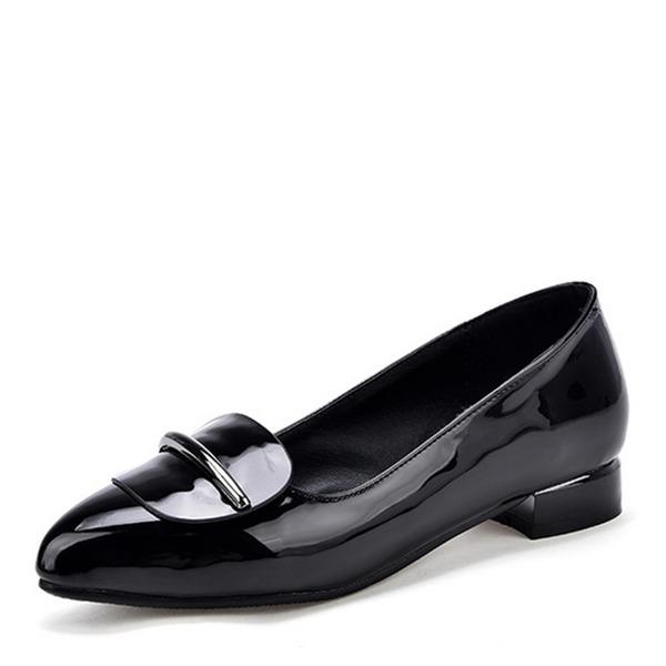 Женщины кожа Лакированная кожа Плоский каблук На плокой подошве обувь
