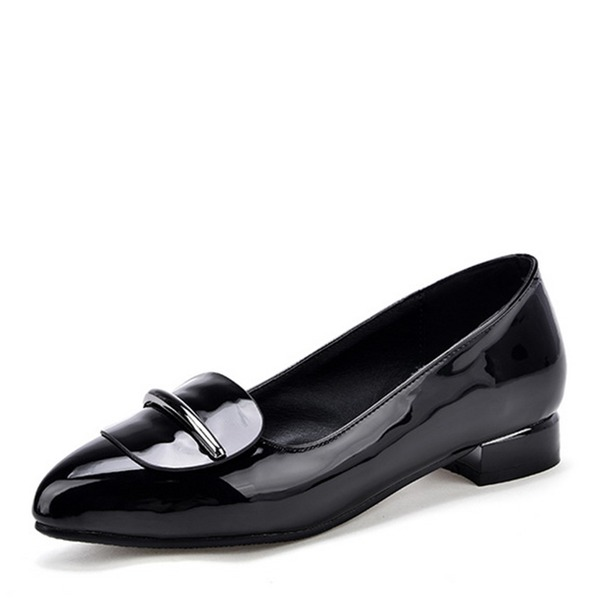 Kvinner Lær Patentert Lær Flat Hæl Flate sko sko