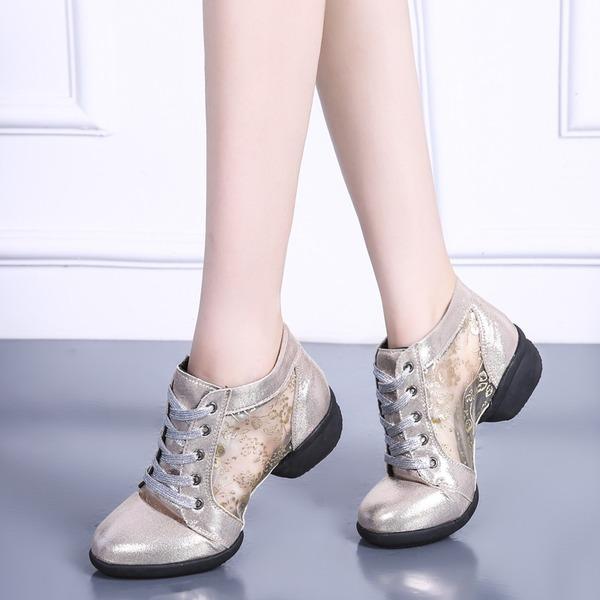 Vrouwen Kunstleer Mesh Dans Sneakers modern Jazz Dans Sneakers Dansschoenen