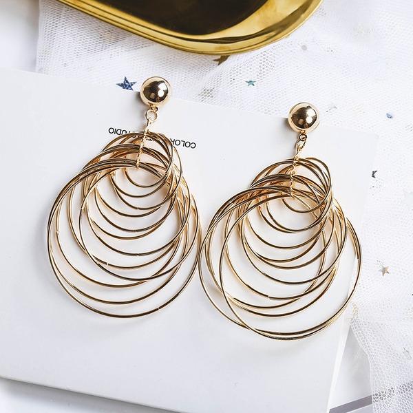 Schickes Legierung Frauen Art-Ohrringe (Set von 2)