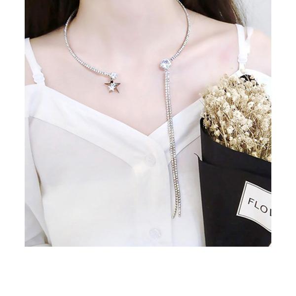 Einzigartig Legierung mit Strass Zirkon Frauen Mode-Halskette