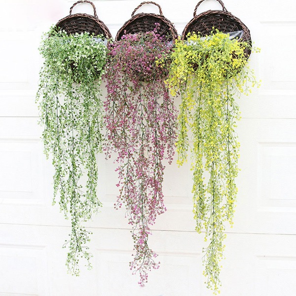 Plastic Hanging Basket Flower  (Sold in a single piece)
