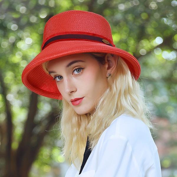 Dames Klassiek/Uniek Raffia Stro Slappe Hat