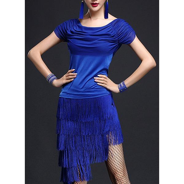 Frauen Tanzkleidung Polyester Latintanz Kleider