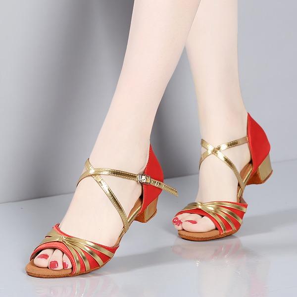 Enfants Satiné Sandales Latin Chaussures de danse