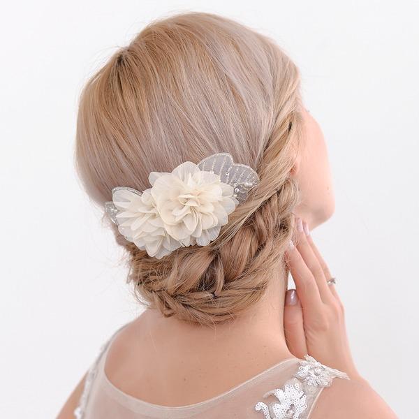 Abbigliamento donna Speciale Fiore di seta Fiori & piume con Strass (Venduto in un unico pezzo)