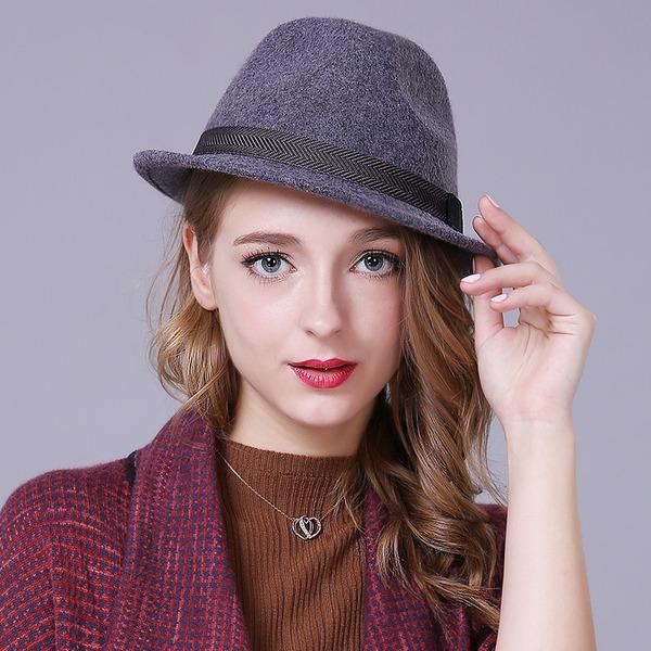 Damer' Glamorösa/Elegant/Enkel/Iögonfallande/Snygga/tappning utformar Ull Diskett Hat