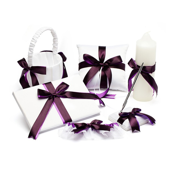 Collection Set in Satin With Double Ribbon