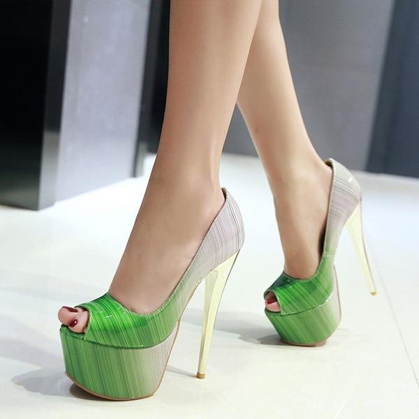 Naisten Kiiltonahka Piikkikorko Avokkaat Platform jossa Muut kengät
