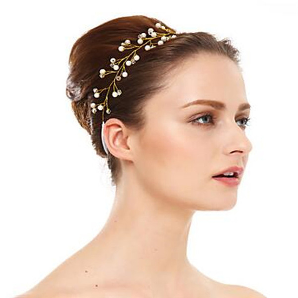 Ladies Classic Crystal/Pearls Headbands (Sold in single piece)