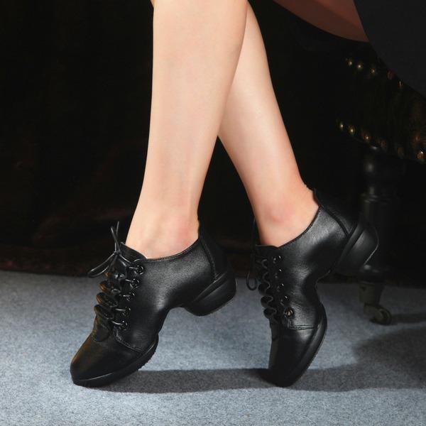 Femmes Vrai cuir Tennis Baskets Chaussures de danse