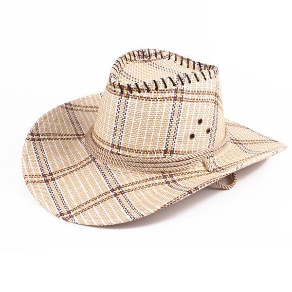 Män Särskilda Linné Cowboyhatt