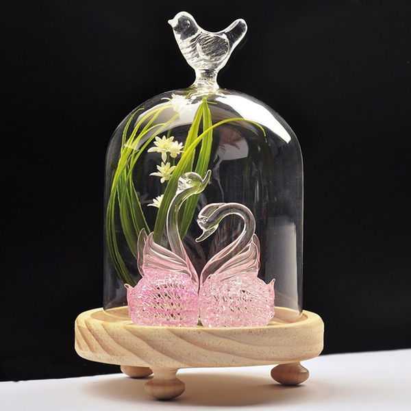 "Gorgeous ""Love Bird""/Elegant Swan Glass Vase"