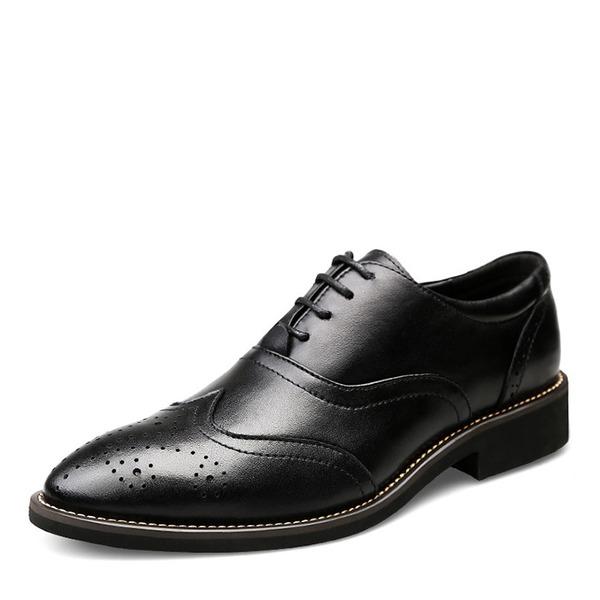 Herren Echtleder Brogue Lässige kleidung Herren-Oxford-Schuhe