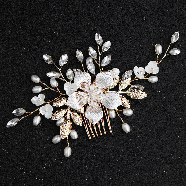 Ladies Rhinestone/Alloy/Imitation Pearls Combs & Barrettes