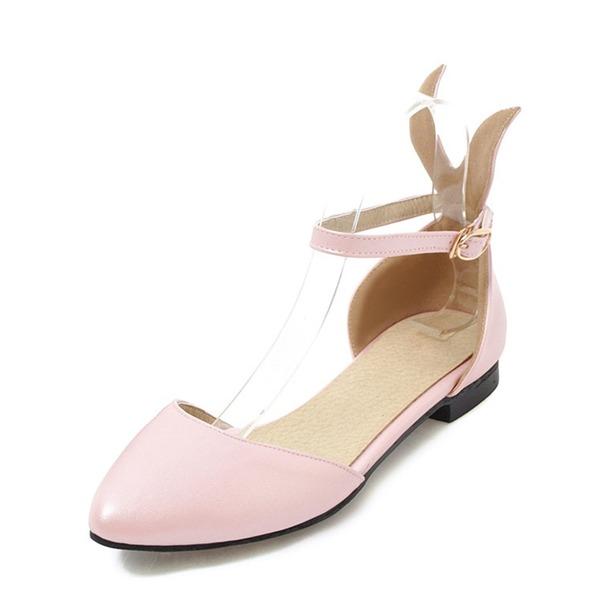 Vrouwen PVC Flat Heel Sandalen Flats met Gesp schoenen