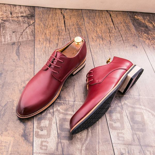 Hombres Piel Casual Zapatos Oxford de caballero