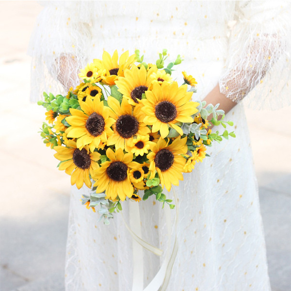 Pretty Round Artificial Flower Bridal Bouquets - Bridal Bouquets