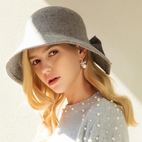 Ladies ' Piękny/Elegancki/Prosty Wełna Floppy Hat