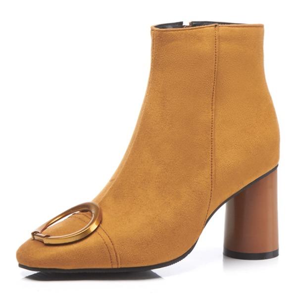 Femmes Similicuir Talon bottier Bout fermé Bottes Bottines avec Chaîne chaussures