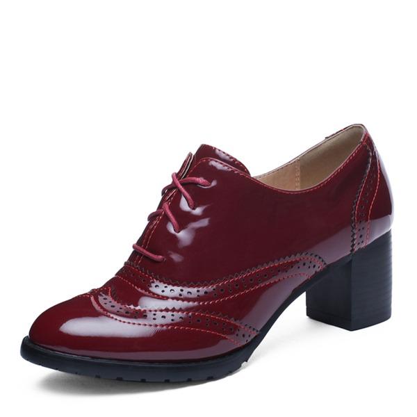 Femmes Cuir verni Talon bottier Escarpins أحذية