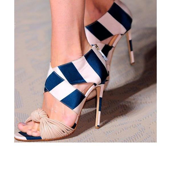 Kadın PU İnce Topuk Sandalet Pompalar Peep Toe ayakkabı