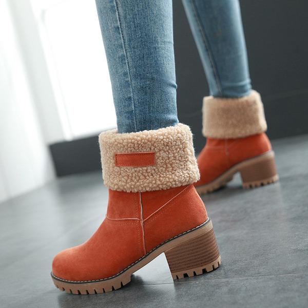 Vrouwen Kunstleer Chunky Heel Laarzen Enkel Laarzen Snowboots schoenen