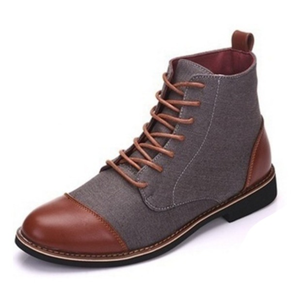 Men's Canvas Lace-up Chukka Casual Men's Boots