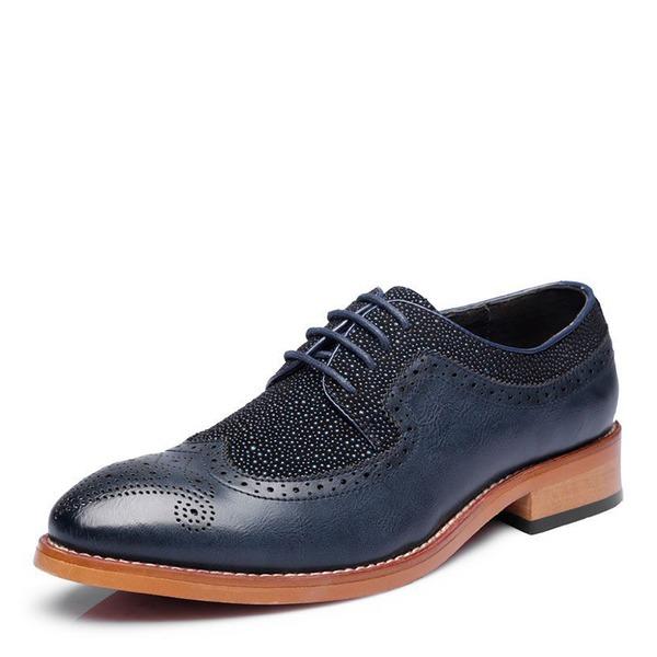 Herren Microfaser Leder Zuschnüren Brogue Abendschuhe Herren-Oxford-Schuhe