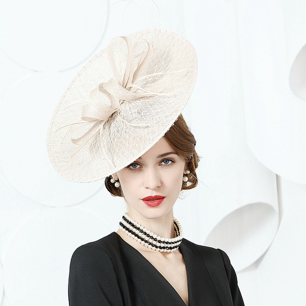 Dames Mode/Elegant/Romantische/Wijnoogst/Artistieke Batist met Feather Fascinators