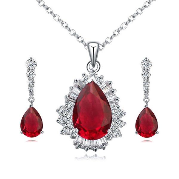 Piękny Stop Cyrkon Ladies ' Zestawy biżuterii