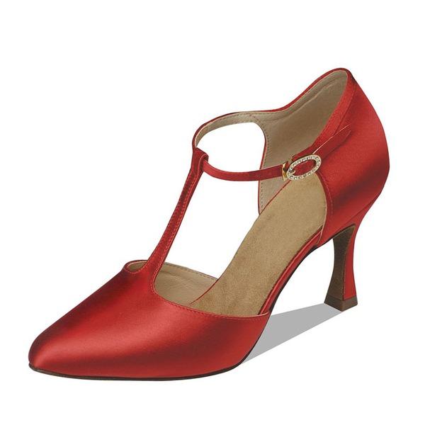 Donna Raso Tacchi Stiletto Sala da ballo con Con Listino a T Scarpe da ballo