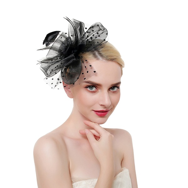 Ladies' Glamourous/Classic/Elegant Feather/Net Yarn With Feather Fascinators/Kentucky Derby Hats
