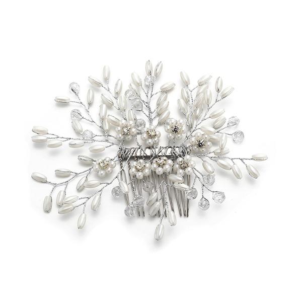 Dames Mooi Kristal/Strass/Imitatie Parel Kammen & Haarspeldjes met Strass/Venetiaanse Parel/Kristal (Verkocht in één stuk)