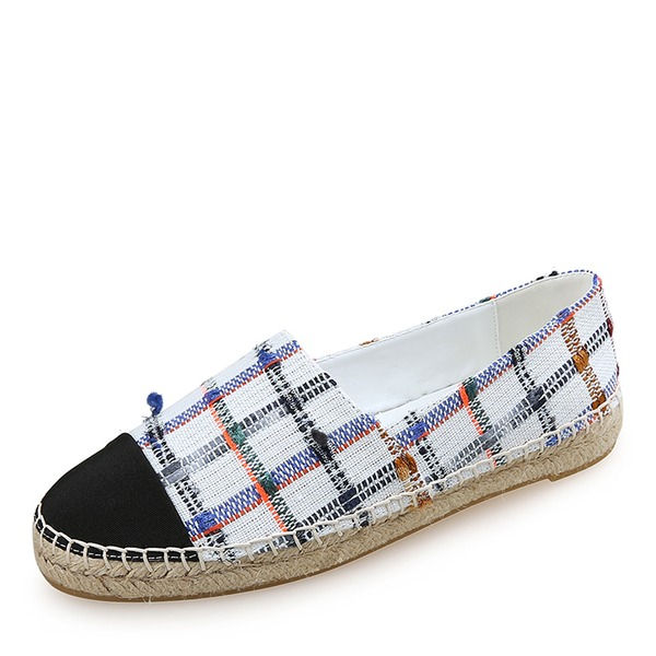 Frauen Stoff Flascher Absatz Flache Schuhe Geschlossene Zehe Schuhe